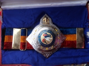 Muay Siam Isaan area Title Belt