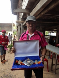 Worker from Muay Siam with the belt